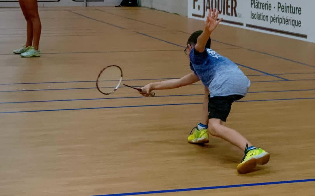 Essais au badminton